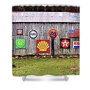 Gas From The Past Shower Curtain