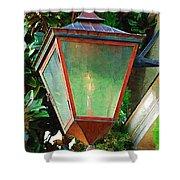 Gas Lantern Shower Curtain