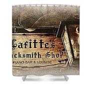 Gas Light At Lafitte's Blacksmith Shop Shower Curtain