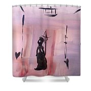 Gas Lighting  Shower Curtain