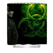 Gas Mask Shower Curtain