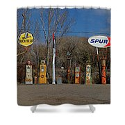 Gas Pumps And Gas Signs Panorama Shower Curtain