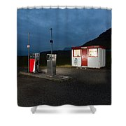 Gas Station In The Countryside, South Shower Curtain