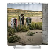 Gas Station Relics Shower Curtain