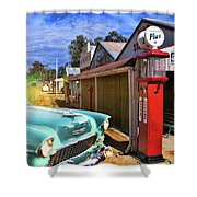 Gas Stop Shower Curtain