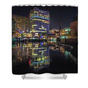 Gas Street Basin At Night Shower Curtain