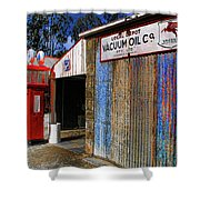 Gasoline And Oil Check Shower Curtain