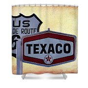 Gasoline Signs Shower Curtain