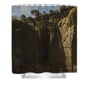 Gaspar Van Wittel  Called Vanvitelli Amersfoort 1652   1736   A View Of The Grotto At Pozzuoli With  Shower Curtain