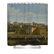 Gaspar Van Wittel  Called Vanvitelli Amersfoort 1652    1736   Rome  A View Of The Church Of Santi M Shower Curtain