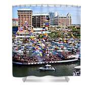 Gasparilla And Harbor Island Florida Shower Curtain