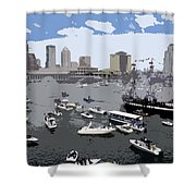 Gasparilla Invasion Work Number 3 Shower Curtain