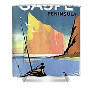 Gaspe Peninsula, Coast, Canada Shower Curtain