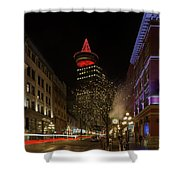 Gastown In Vancouver Bc At Night Shower Curtain