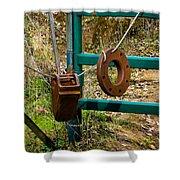 Gate Anchors Shower Curtain