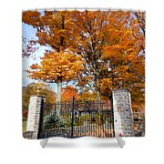 Gate And Driveway 3 Shower Curtain