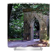 Gate At Cong Abbey Cong Ireland Shower Curtain