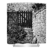 Gate At Dunguaire Castle Kinvara Ireland Shower Curtain