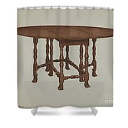 Gate-legged Table Shower Curtain