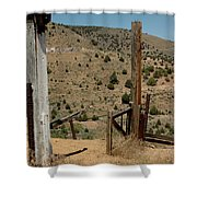 Gate Out Of Virginia City Nv Cemetery Shower Curtain