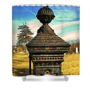 Gate Post Shower Curtain