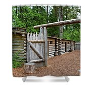 Gate To Log Camp At Fort Clatsop Shower Curtain