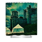 Gate Tower At Warwick Castle Shower Curtain