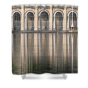 Gated Reflections Shower Curtain