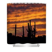 Gates Pass Sunset Shower Curtain