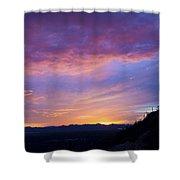Gates Pass Sunset Shower Curtain
