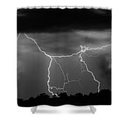 Gates To Heaven  Black And White Shower Curtain