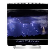 Gates To Heaven Color Poster Shower Curtain