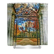 Gates To Knowledge Princeton University Shower Curtain