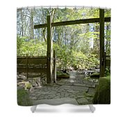 Gateway And Stone Path Shower Curtain