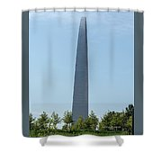 Gateway Arch In The Clouds Shower Curtain