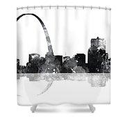 Gateway Arch St Louis Missouri Skyline Shower Curtain