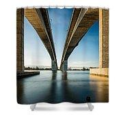 Gateway Bridge Brisbane Colour Shower Curtain
