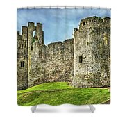 Gateway To Chepstow Castle Shower Curtain