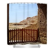 Gateway To Monthemhat Tomb Shower Curtain