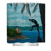 Gateway To Portofino Shower Curtain by Charlotte Blanchard