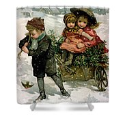 Gathering Holly Shower Curtain