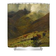 Gathering Mists Shower Curtain