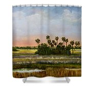 Gathering Of The Palms Shower Curtain