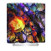 Gathering Of The Planets Shower Curtain