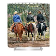 Gathering Pine Ridge Shower Curtain