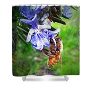 Gathering Rosemary Pollen Shower Curtain