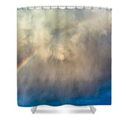 Gathering Storm And Rainbow Shower Curtain