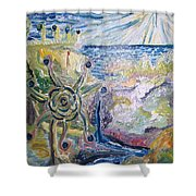 Gathering Water Shower Curtain