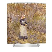 Gathering Wood For Mother Shower Curtain