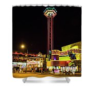 Gatlinburg Downtown, Gateway To The Great Smoky Mountains National Park Shower Curtain